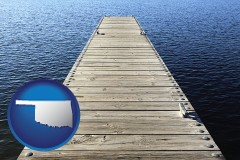 oklahoma a boat dock on a blue water lake